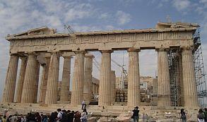 Grecia turistas en Partenón
