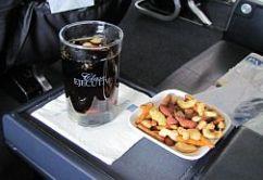 servicio a bordo comida