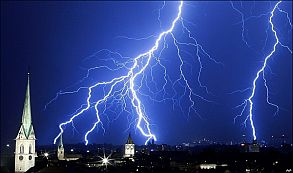 tormenta clima  rayo