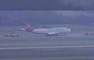Inaugural Virgin Atlantic flight to Atlanta cancelled after 'water cannon salute' is swapped for foam and clogs engines