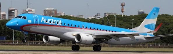 Argentina: Pilotos de Austral reclaman mantener cerrado el mercado aerocomercial