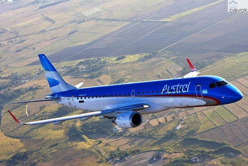 Argentina: Transporte prorrogó la autorización a Austral para volar a Trelew, El Calafate y Ushuaia
