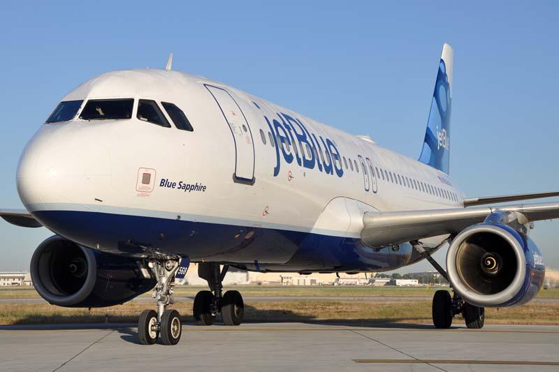 JetBlue incrementa en un 1,6% su flujo de pasajeros hasta julio
