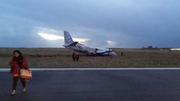 Fuerte viento provoca accidente de avión en Escocia