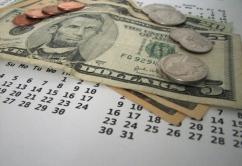 Calendario dinero dolares $