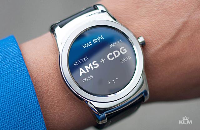 KLM smartwatch reloj-app
