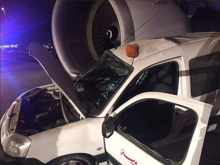 """Jato Airbus A-320 """"˜atropela""""™ veículo de companhia rival"""