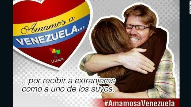 La imagen de un detenido es usada para promover el turismo en Venezuela