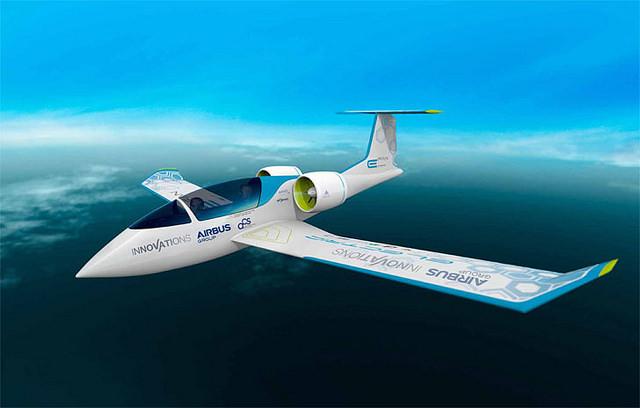 El E-Fan de Airbus, primer avión eléctrico en atravesar el Canal de la Mancha