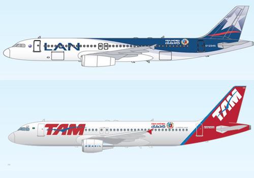 Aviones Copa América ya están volando a lo largo de Chile y Sudamérica