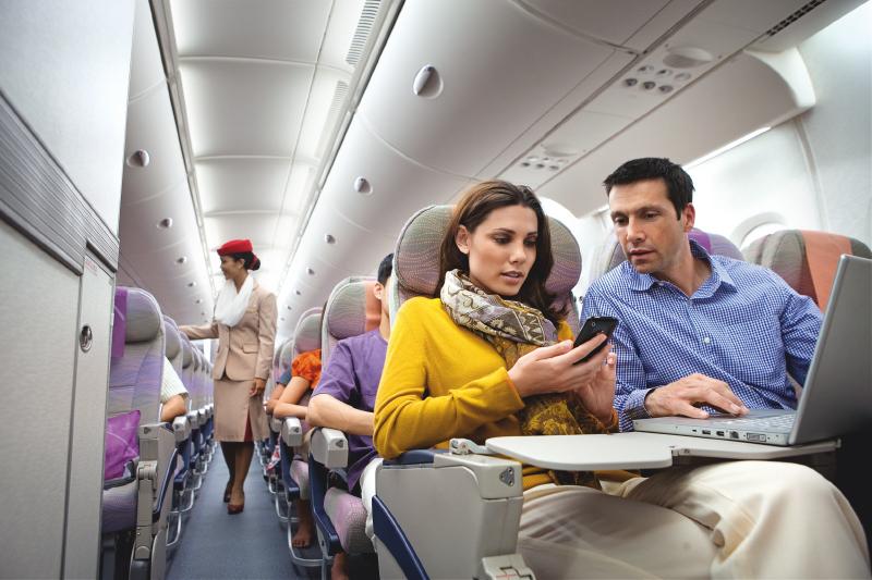 Emirates Airline: conectados a 10 mil metros de altura
