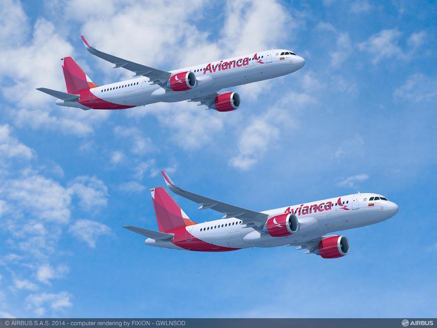 Avianca cursa pedido en firme por 100 aviones de la Familia A320neo