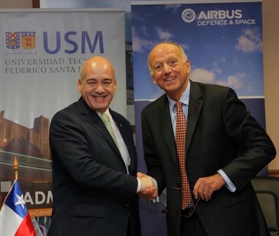 Airbus DS y la Universidad Técnica Federico Santa María de Chile acuerdan la creación de un programa universitario en materia espacial