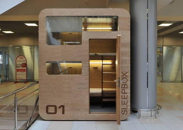 """¿Dormirías en una """"caja"""" en un aeropuerto?"""