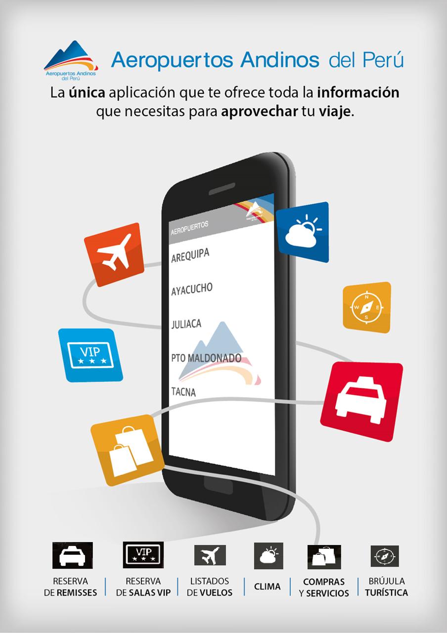 Aeropuertos Andinos del Perú lanza su propia aplicación para dispositivos