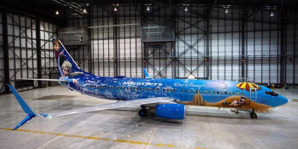 Es posible viajar en un avión inspirado en 'Frozen'
