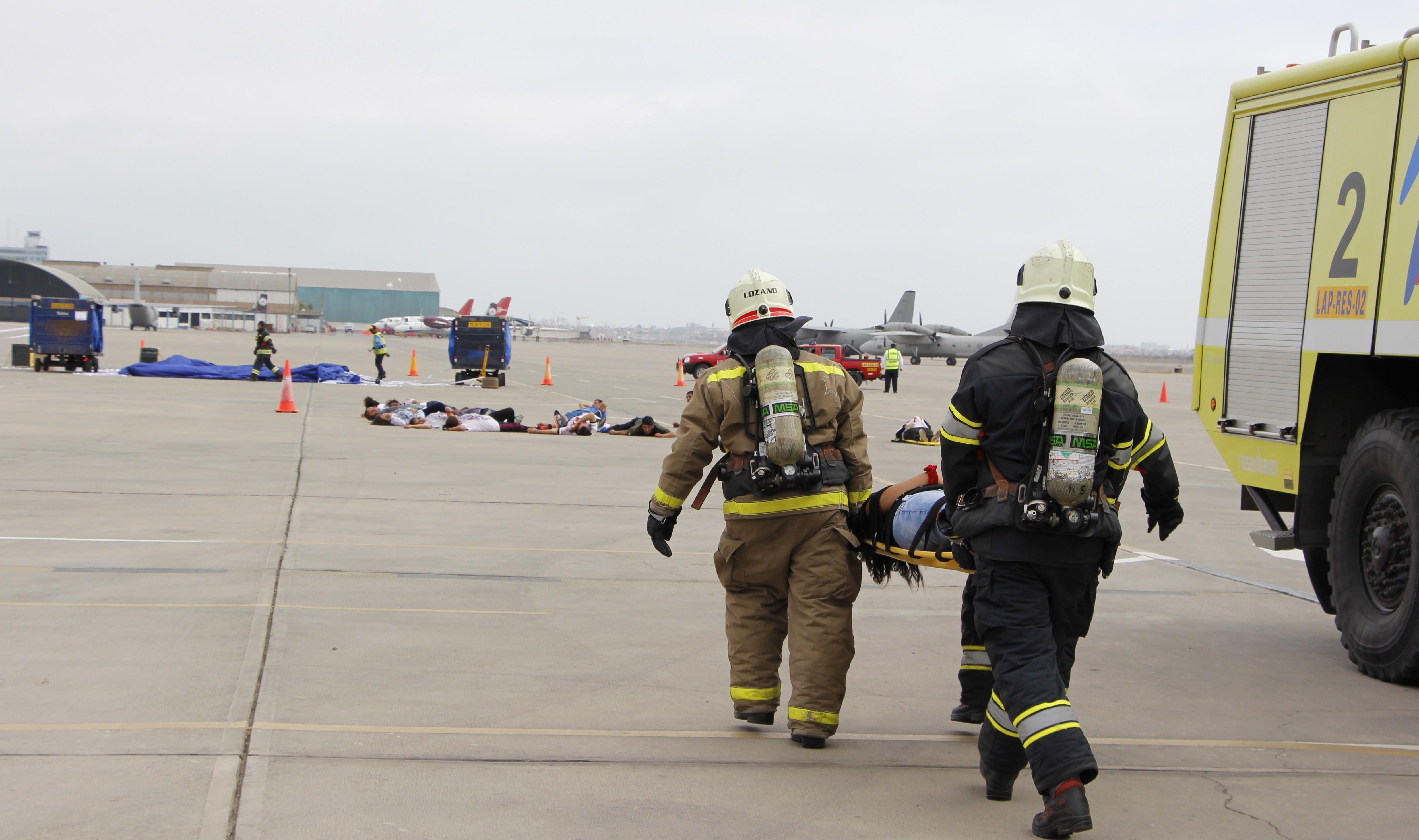 Perú: Más de 1000 participaron del Simulacro General de Accidente de Aeronave en el AIJCh