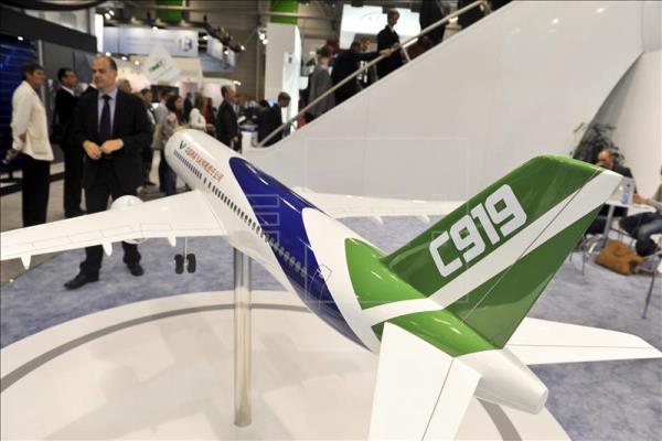 El primer jumbo chino, el C919, tendrá su bautismo del aire antes de julio