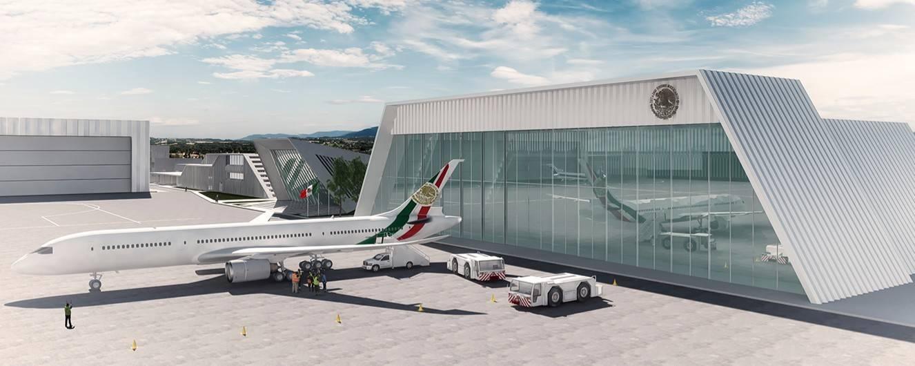 México: Hangar y avión presidencial listos para inaugurarse esta semana