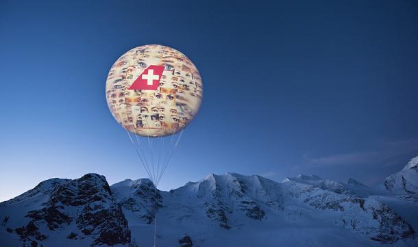 Aerolínea Swiss patrocina instalación artística en los Alpes suizos