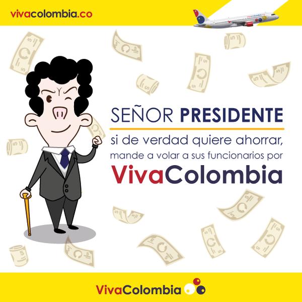 La ingeniosa respuesta de VivaColombia al presidente Santos