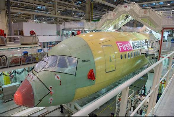 Airbus A350ULR finaliza su ensamblaje