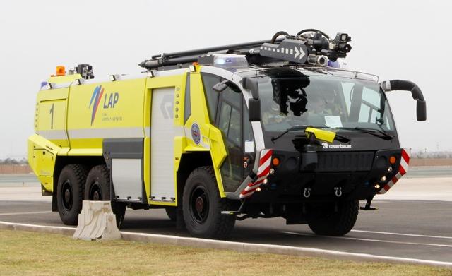 Perú: LAP invierte $1.7 millones en vehículos contra incendios de última generación para el AIJCh