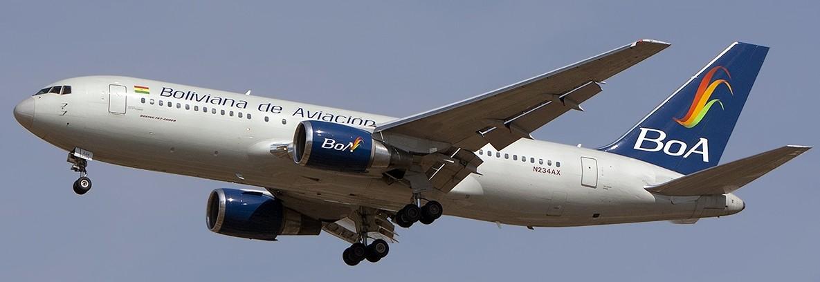 Boliviana de Aviación cerrará 2016 con más de US$250 millones de ingresos y 170.000 vuelos realizados