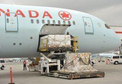 Air Canada Unloading Cargo B787-8  2109