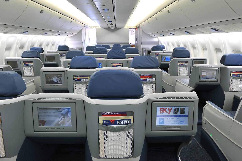 Delta BusinessElite in-flight entertainment
