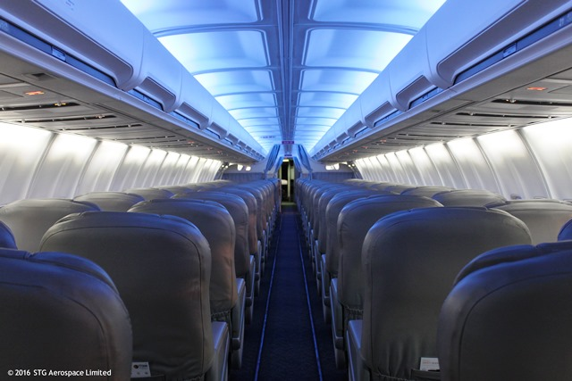 "Premium carrier Titan Airways enhances the mood with STG Aerospace""™s LED cabin lighting upgrade"