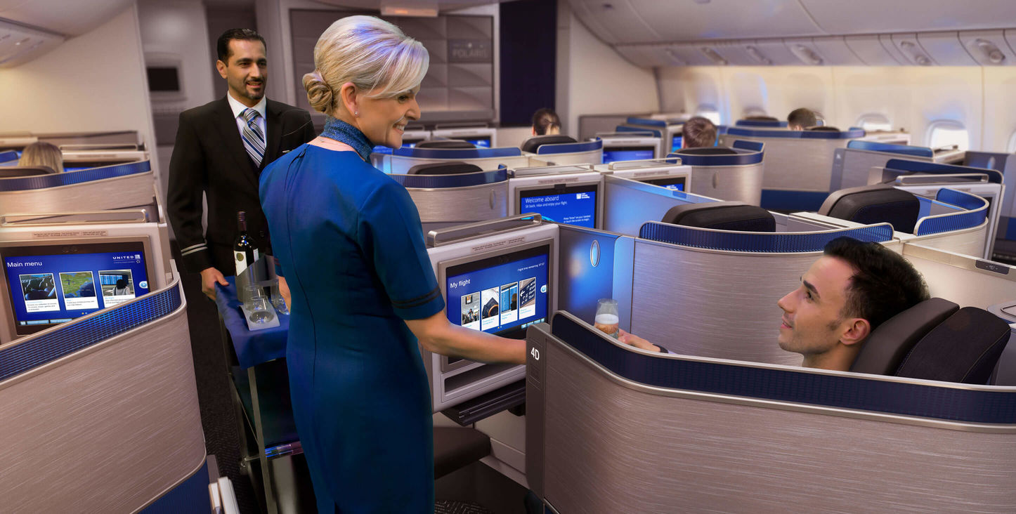 "United Airlines presenta una experiencia totalmente reimaginada en viajes internacionales """"United Polaris Business Class"