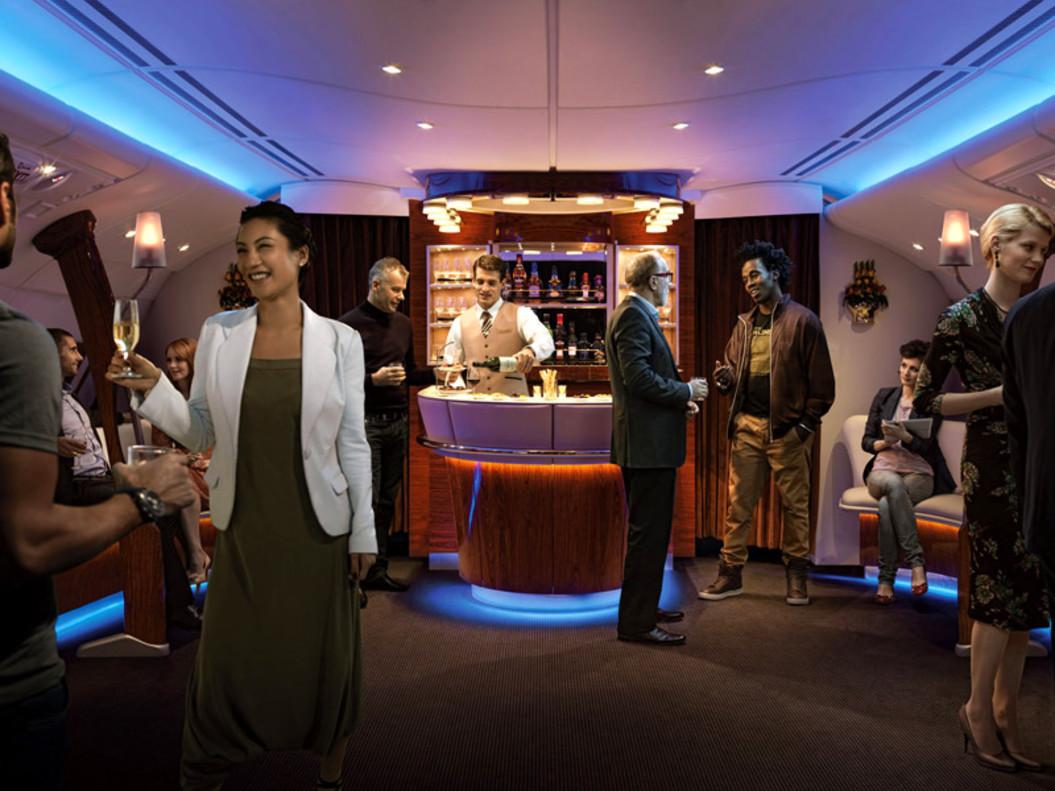 Emirates anuncia mejoras en el Onboard Lounge del Airbus A380