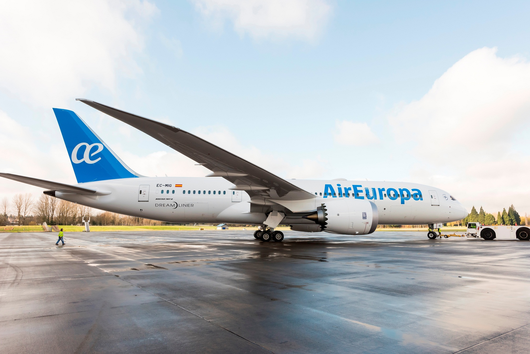 BOC Aviation entrega el primer 787-9 Dreamliner a Air Europa