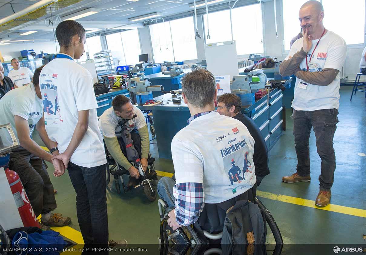 Airbus Group apoya el desarrollo de soluciones innovadoras para las personas con discapacidad
