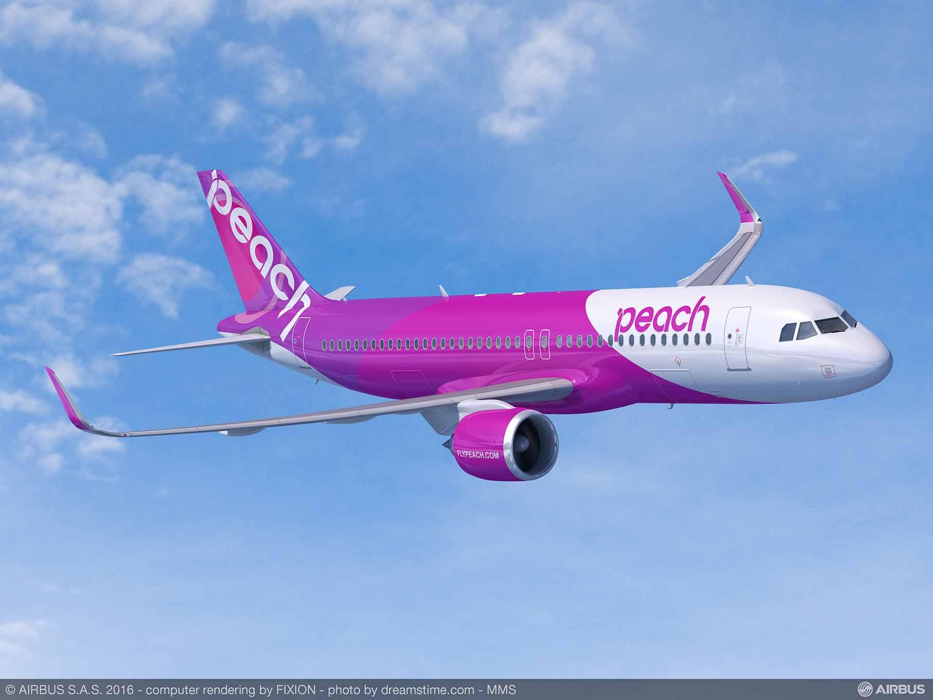 Peach Aviation adquiere 13 aviones Airbus de la familia A320