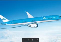KLM 787 dreamliner collombia