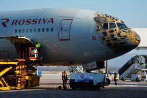 Aerolínea rusa decora un Boeing 777 como un leopardo del Amur para promover su protección