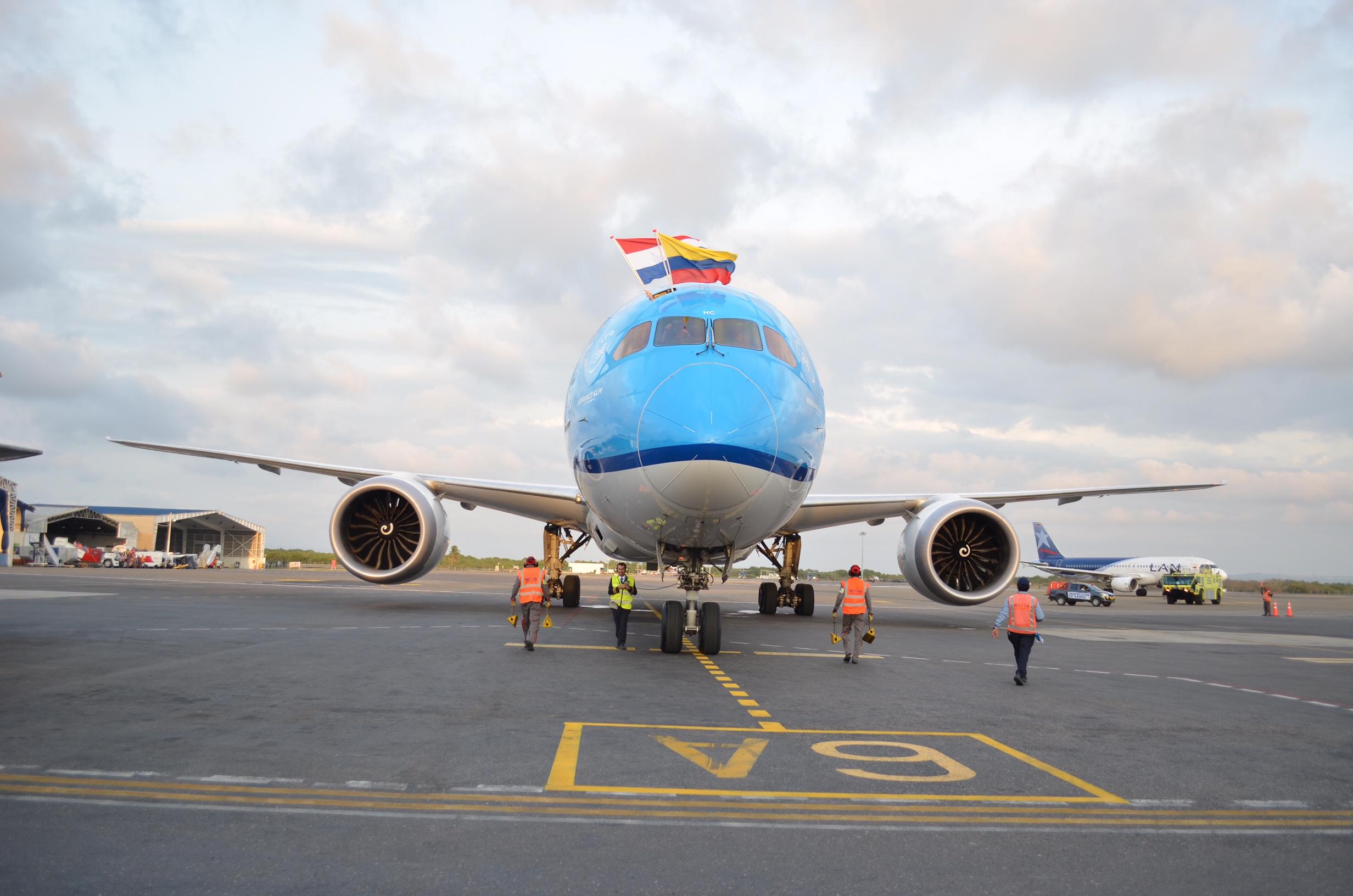 ¡Llegó KLM a Cartagena!