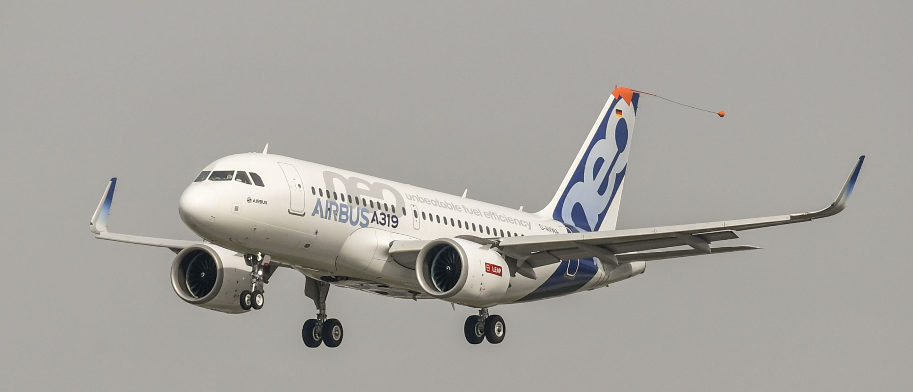 The Airbus A319neo takes to the skies