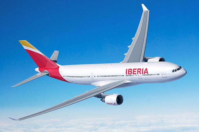 Ecuador: Con un arco de agua fue recibida la compañía Iberia