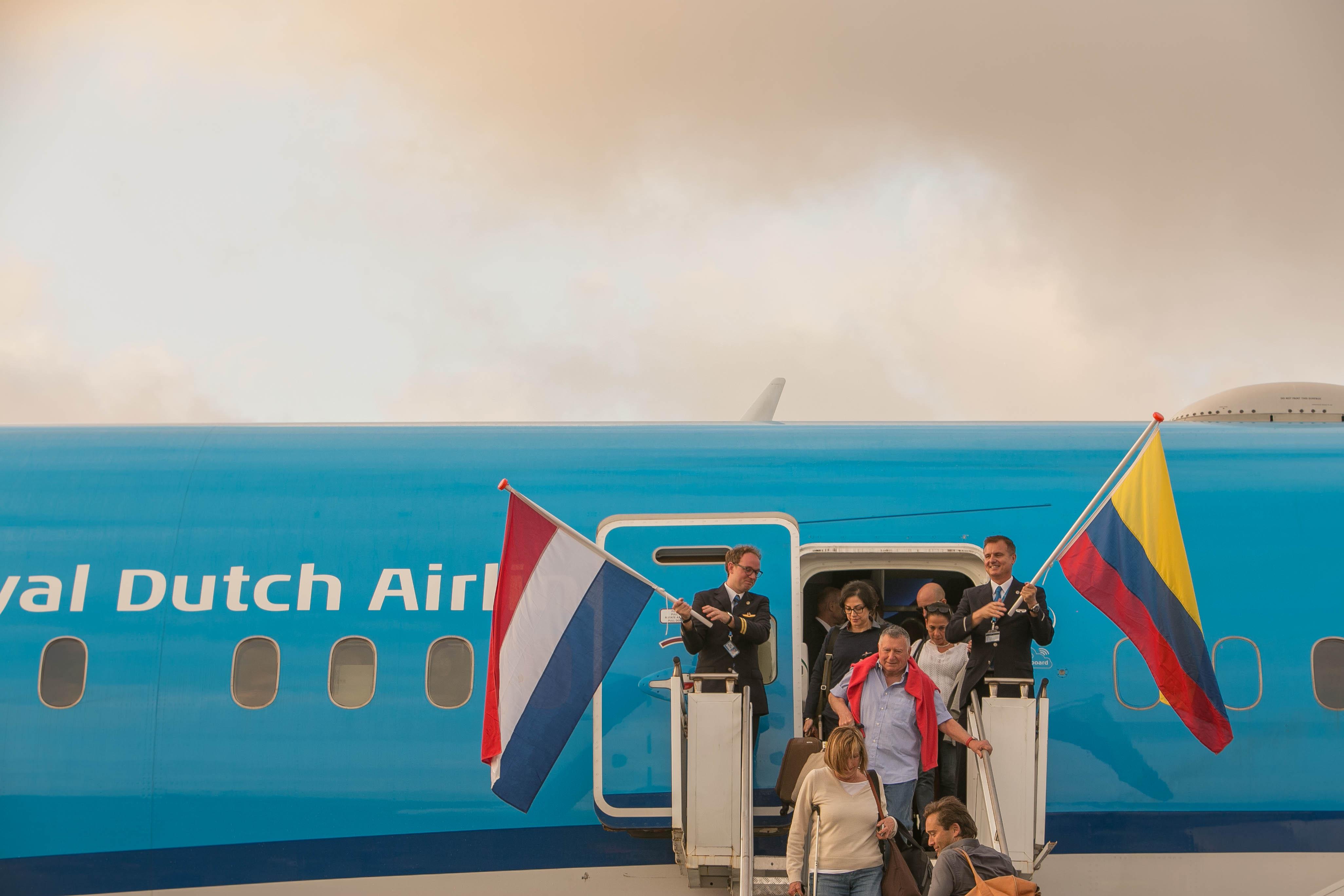 Gran acogida de la nueva de ruta de KLM a Cartagena