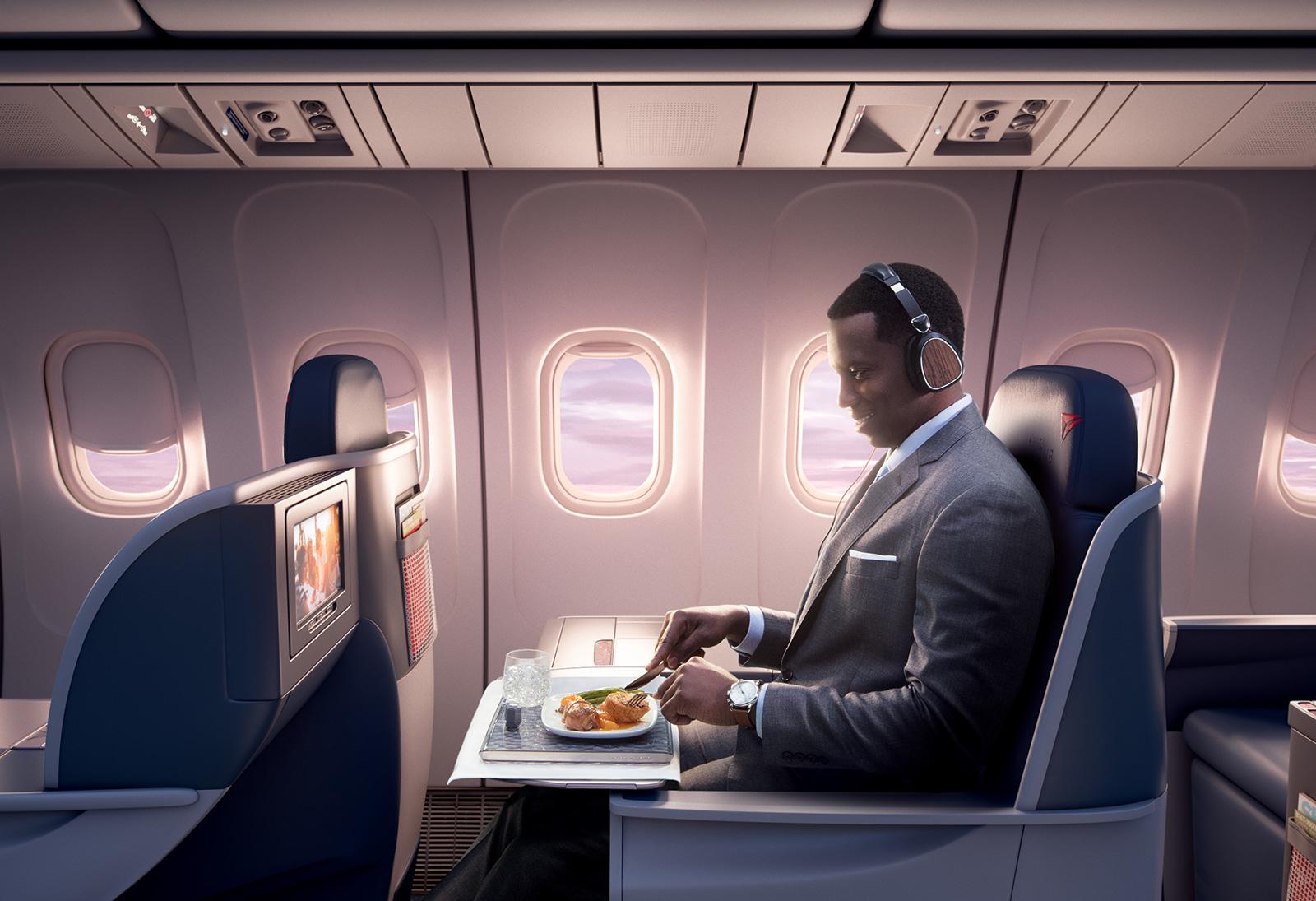 Clientes de Delta One tienen nuevas opciones de menú  en los vuelos entre Estados Unidos y Santiago de Chile