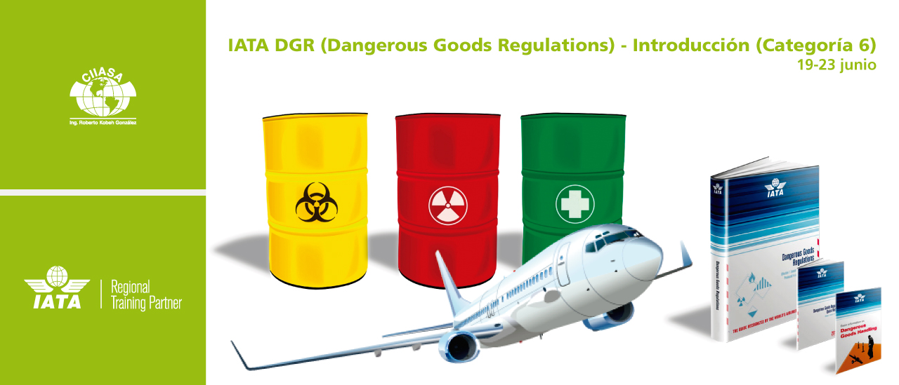 CIIASA albergará curso Normativas de la IATA relativas a Mercancías Peligrosas (Categoría 6)