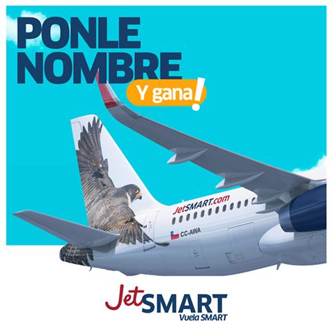 JetSMART lanza concurso para bautizar a su primer avión y el ganador tendrá pasajes gratis durante todo el 2017