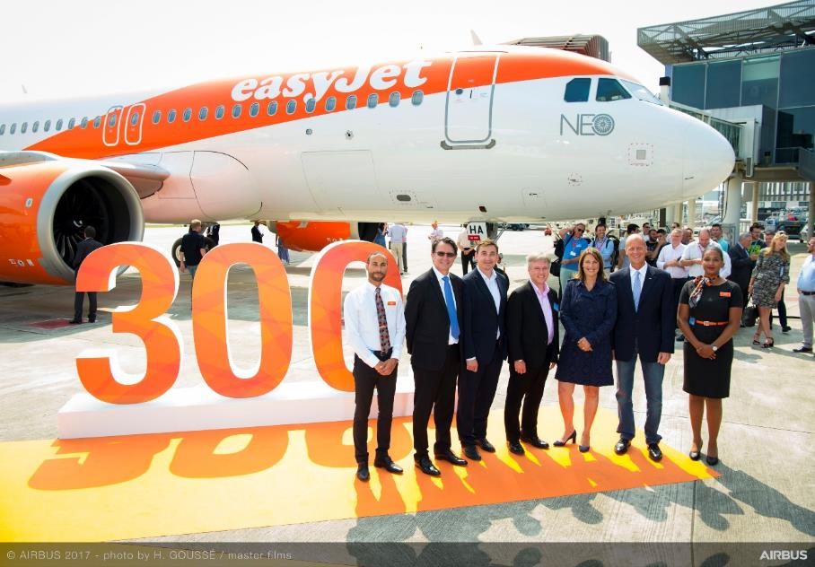 EasyJet receives first of 130 A320neo aircraft
