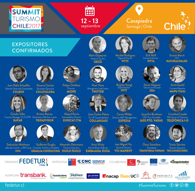 Con 30 destacados expositores Chile realiza su primer gran Summit de Turismo