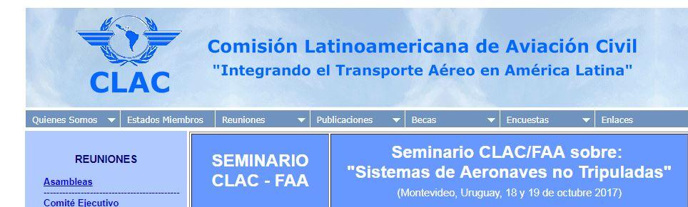 CLAC/FAA dictarán en Montevideo seminario sobre sobre 'Sistema de Aeronaves No Tripuladas'