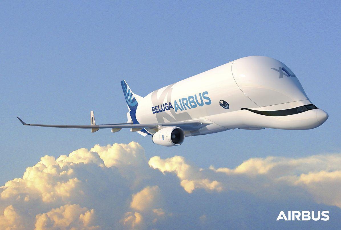 Primer vuelo de prueba del avión Beluga XL de Airbus para transportar piezas
