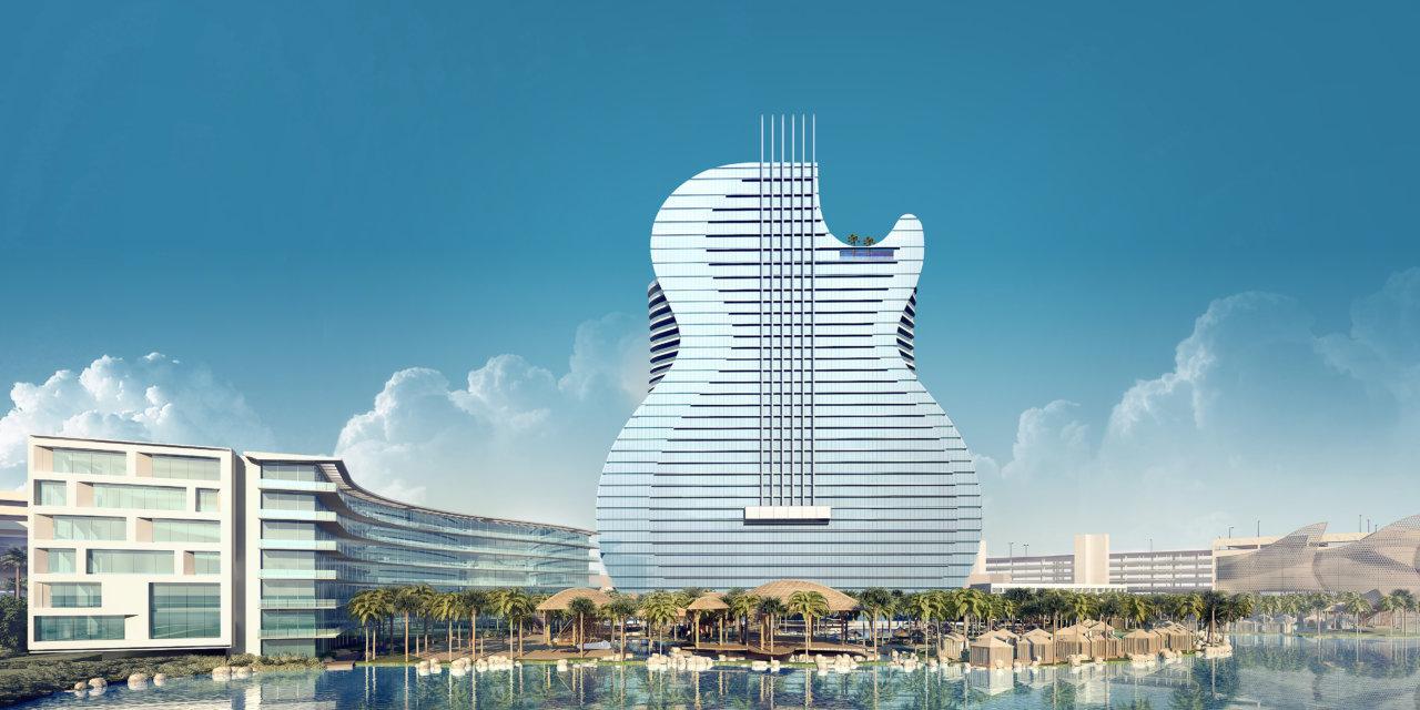 Hard Rock construye un gran hotel en forma de guitarra